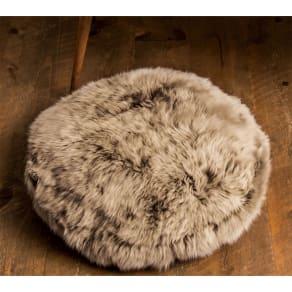 ミックスムートン クッション 円形(約径50cm) 写真