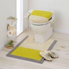 北欧調抗菌防臭吸水トイレタリー フタカバー(洗浄暖房器用)・マットセット