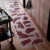 50×180cm 透明キッチンマット Meow/ミャオ 写真