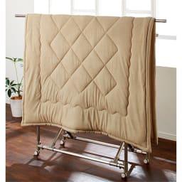 ふんわり速乾アクアジョブ(R)シリーズ 掛けカバー ダブルロング 速乾なので室内干しもOK。梅雨や花粉の季節も安心して洗濯できます。 (エ)ベージュ