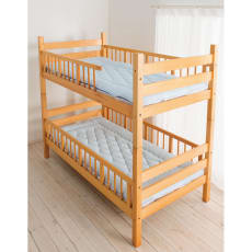 吸汗わたで汗かく夏に最適!麻混吸湿システム敷布団 2段ベッド用(上層+下層) 2枚組