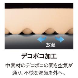 高硬度・軽量・除湿!ブリヂストンの選べる3つ折りマットレス ベーシックタイプ 厚さ6cm 全タイプ共通 湿気対策