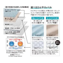 【2018年モデル】ナガークールシリーズ 麻+オーガニックコットン平織り 敷きパッド