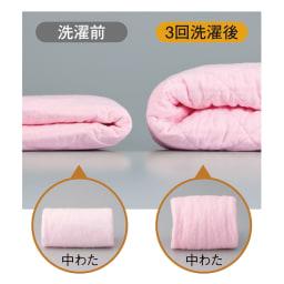 ダイヤキルト パシーマ(R)EXシリーズ パッドシーツ(セミシングル~クイーン) 企業秘密の製法で、洗うほどにふっくら!※3回折り畳んで比較。ご使用の状況により風合いは異なります。