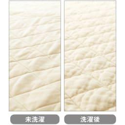 ダイヤキルト パシーマEX  パッドシーツ(ファミリーサイズ) 洗濯することで脱脂綿がほぐれ、ふっくら。ガーゼもふんわり柔らかな肌触りになっていきます。