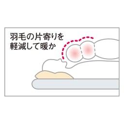 【西川リビング】フランス産羽毛 布団6点セット(シングルロング) 銀 6点セット 衿元フィットキルトだから首まで羽毛たっぷり。
