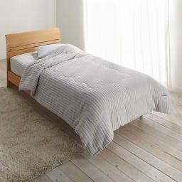 暖かさと肌へのやさしさを考えたFUWARMシリーズ ボックスシーツ型敷きパッド (ア)ライトグレー