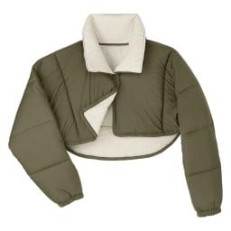 バージョンアップしました!昨冬人気のテイジンV-Lap(R)使用 着る布団シリーズ 肩カバー  (イ)カーキ