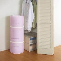 魔法の敷き寝具シリーズ しっかり綿ツイル 敷布団 敷布団は丸めてコンパクトにできるので、省スペース化にも貢献。収納問題もすっきり解決します。