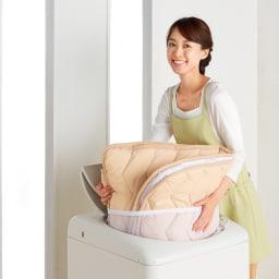 ジャブジャブ洗える 爽やか敷布団 敷布団+洗い替え用側カバー 洗濯機OK 側カバー