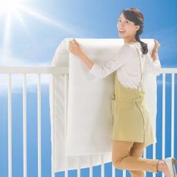 ジャブジャブ洗える 爽やか敷布団 敷布団+洗い替え用側カバー 天日干しOK 中芯