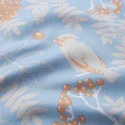 北欧からの贈り物シリーズ カバーリング ピローケース同色2枚組 (イ)ブルー 綿100%の優しい肌ざわり