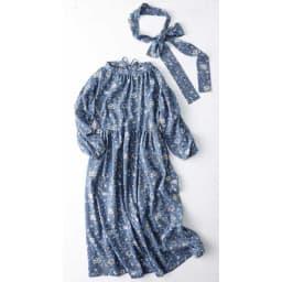 【TOUCH & FEEL (R) MATA 】 タッチ&フィール マータ 3WAY割烹着リラックスローブ(やわらかコットンレーヨンタイプ) 割烹着ローブと共生地のベルトのセットです。