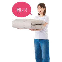 魔法の敷き寝具シリーズ 爽やかリネン 敷きマット 軽量なので簡単に持ち運べてお手入れもラク。