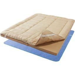 ファミリー布団用 除湿シート(ファミリーサイズ・家族用) (ア)ブルー ※お届けは除湿シートです。