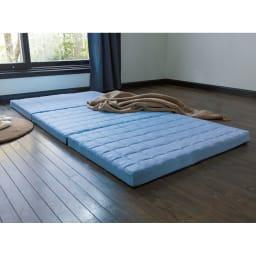 除湿・軽量・寝心地にこだわった3つ折バランス硬質マットレス 厚さ12cm(2層式) こちら6cmタイプです。