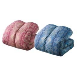 バーゲン寝具シリーズ 羽毛布団(レギュラータイプ) シングルロング 左から(ア)ピンク系 (イ)ブルー系 ハンガリー産羽毛 掛け布団 羽毛の名産地ハンガリーのダウンを使用した羽毛布団の暖かさは、まさに贅沢の一言。ライト・レギュラー・増量タイプの3種類から選べます。
