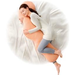 岡山県立大学とコラボ! 睡眠モードに切り替える 魔法の抱き枕(R)本体 忙しい日常を忘れて、スーッと夢の世界へ。リラックスを誘う抱き枕です。※ワイドタイプ