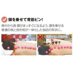 岡山県立大学とコラボ! 睡眠モードに切り替える 魔法の抱き枕(R)本体 頭を乗せる部分と抱きしめる部分を一体化することで、自然と背中から首までまっすぐに。