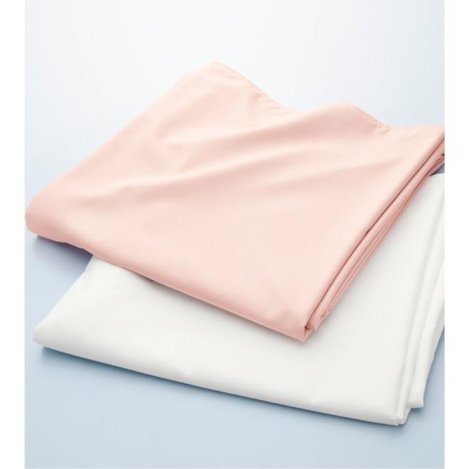 女性にうれしい清潔掛けカバー 上から(イ)ピンクベージュ (ア)ホワイト