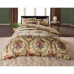 【西川産業(東京西川)】Sanderson/サンダーソン サテン掛けカバー 枕カバーと揃えて、ドラマティックな寝室のコーディネートを!