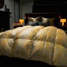 シルク×超長綿で包んだポーランド産マザーグース羽毛布