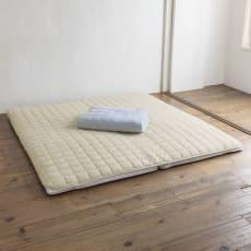 発熱するコットン「デオモイス」寝具シリーズ フランネルニットの敷きパッド ファミリー