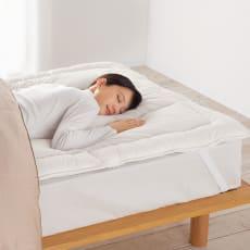 羽毛が苦手なあなたにプリマロフト(R)シリーズ オーバーレイ(寝心地改善ベッドパッド)