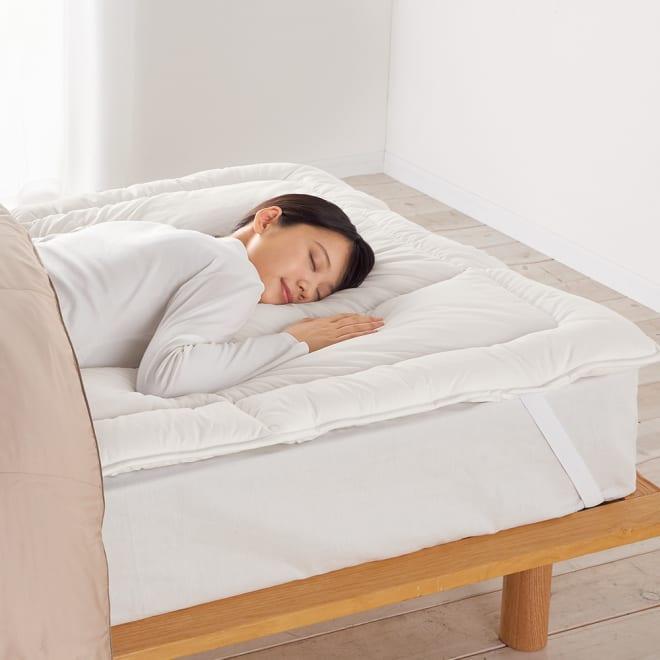 羽毛が苦手なあなたにプリマロフト(R)シリーズ オーバーレイ(寝心地改善ベッドパッド) ※お届けはオーバーレイです。枕は商品に含まれません。