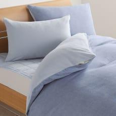 発熱するコットン「デオモイス」寝具シリーズ リバーシブルピローケース