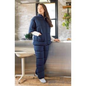 バージョンアップしました!昨冬人気のテイジンV-Lap(R)使用 着る布団シリーズ ロングポンチョ 写真