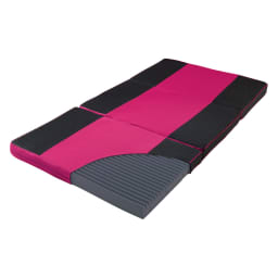 スリープマジックマットレス 3つ折り敷布団 身体に寄り添うフィット感のウェーブタイプ。(ア)ピンク