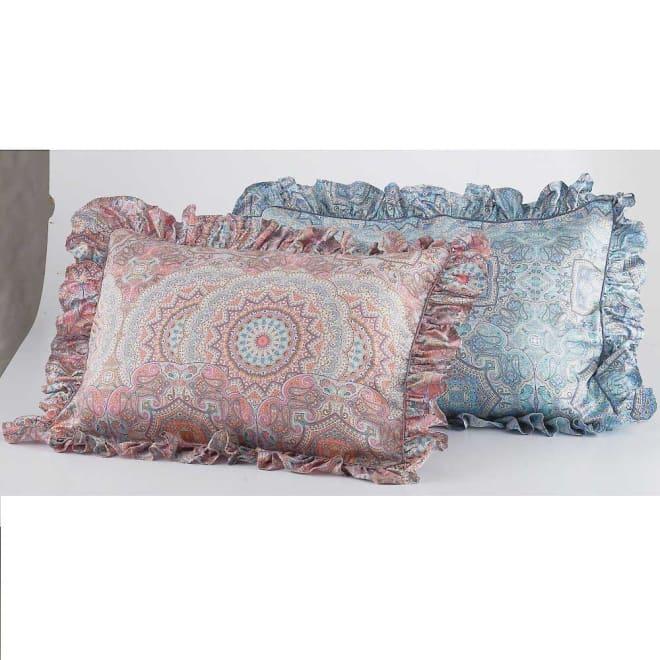 マテリオーネ サテン織りピローケース 普通判 イタリアでデザインされた繊細な柄。美しい発色で表現されています。