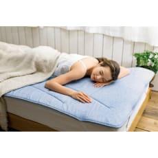 魔法の敷き寝具シリーズ 爽やかリネン 敷きマット