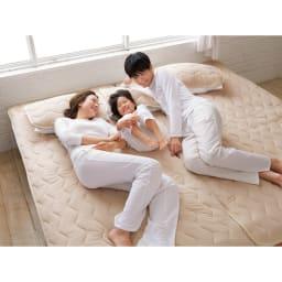 家族の寝具のニオイ対策に!フレッシュ&ドライ消臭除湿敷きパッド 敷きパッド (イ)ベージュ