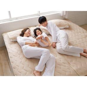 ダブル(家族の寝具のニオイ対策に!フレッシュ&ドライ消臭除湿敷きパッド 敷きパッド) 写真