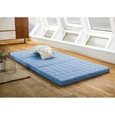 除湿・軽量・寝心地にこだわった3つ折バランス硬質マットレス(厚さ6cm) シングル
