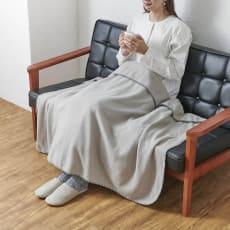 発熱するコットン「デオモイス」寝具シリーズ フランネルニットの2枚合わせ毛布 ハーフケット