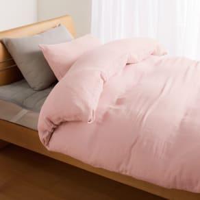 発熱するコットン「デオモイス」寝具シリーズ 三重ガーゼ掛けカバー クイーンロング 写真