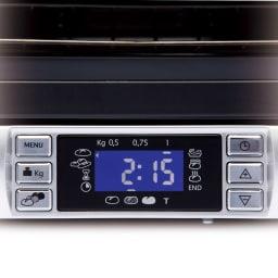DeLonghi/デロンギ スフォルナトゥット・パングルメ コンベクションオーブン デジタル表示で、パンのメニューを選んだり・焼き上がりまでにかかる時間を表示。