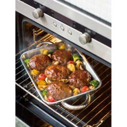 vitacraft/ビタクラフト ダブルグリル鍋 ガラス蓋セット オーブンに丸ごと入り、焼き上がりをそのまま食卓へ。