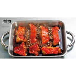 vitacraft/ビタクラフト ダブルグリル鍋 ガラス蓋セット 煮る 浅グリルを使って魚の煮物もラクラク。魚を崩さずに取り出せます。