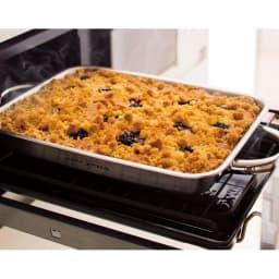 vitacraft/ビタクラフト ダブルグリル鍋 浅鍋を使って、魚焼きグリルでケーキやグラタンが作れます。