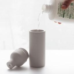 sarasa サラサデザイン / b2c スクイーズボトル 口が広くなっているので詰め替え作業もとっても簡単です