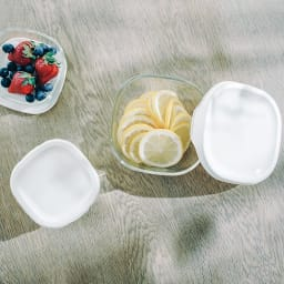 HARIO/ハリオ 耐熱ガラス製保存容器 角型 6個セット