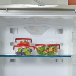 HARIO ハリオ 耐熱ガラス保存容器 丸型 同色6個セット  冷蔵庫にもスッキリ。