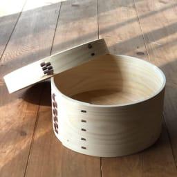 木曽の職人が作る  電子レンジでチンできる 曲げ輪 おひつ 3合