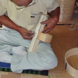 木曽の職人が作る  電子レンジでチンできる 曲げ輪 おひつ 3合 薄く削ったヒノキ材を円形に丸めながら曲げ合わせる匠の技。
