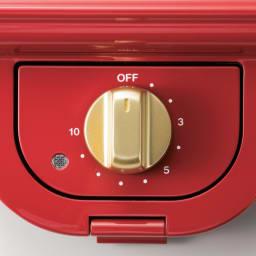 BRUNO/ブルーノ 耳ごと焼けるタイマー式ホットサンドメーカー シングル 10分間のタイマー付き。お好みの時間をセットして、あとは焼き上がりを待つだけです。