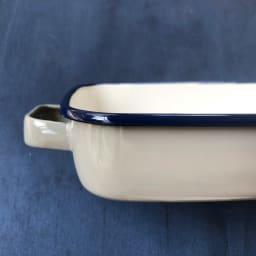 調理もできるホーロー容器 ホーローオーブンディッシュ1個 浅型M 1.6L (イ)グレー